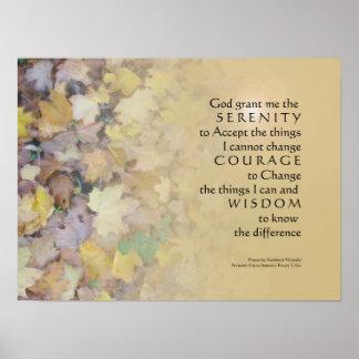 Serenity-Gebet verlässt TAN zu drucken Poster