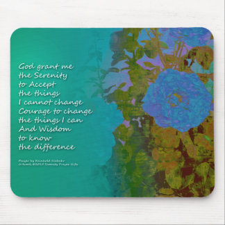 Serenity-Gebets-blaue Rosen 2 Mousepad