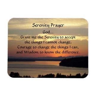 Serenity-Gebets-Meerblick-Sonnenuntergang-Foto Magnet