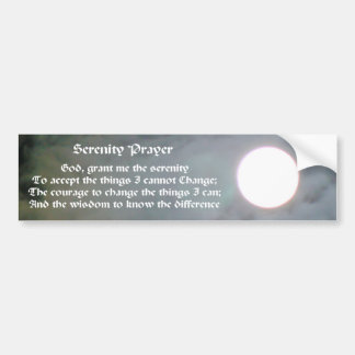 Serenity-Gebets-Mond-Inspirational Autoaufkleber