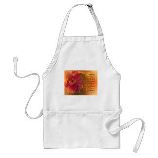 Serenity-Gebets-orange rosa Rose Schürze