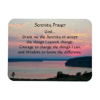 Serenity-Gebets-Rosa-Meerblick-Foto Magnet