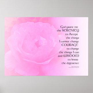Serenity-Gebets-Rosa-Rosen-Mischung Poster