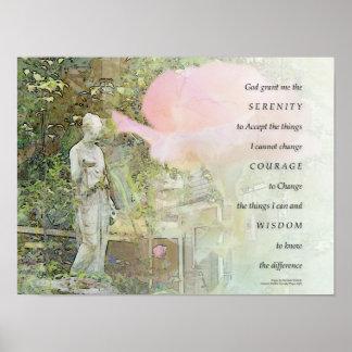 Serenity-Gebets-Rosen-und Garten-Statue-Plakat Poster