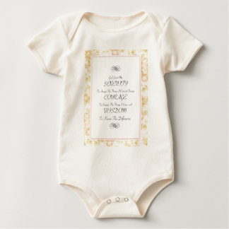 Serenity-Gedicht mit Rosen-Grenze Baby Strampler