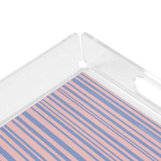 Serenity mit Rosen-Quarzdesignerstreifen Acryl Tablett