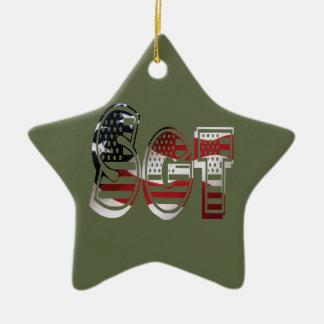 Sergeant USA-Militärarmee-Grün amerikanisches SGT Keramik Ornament