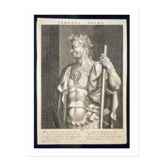 Sergius Galba Kaiser von ANZEIGE Roms 68 graviert Postkarte