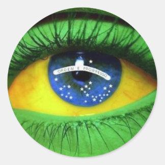 Serie Brasilien Runder Aufkleber