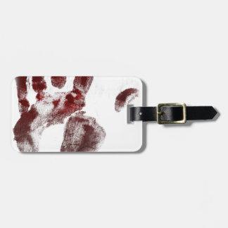 Serienmörder-Blut handprint Kofferanhänger