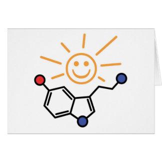 Serotonin-Sonnenschein - Glück ist Chemie Karte