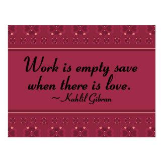 Service ohne Liebe ist leer Postkarte