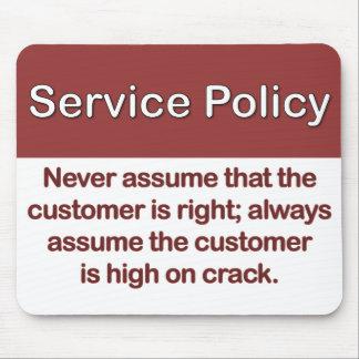 Service-Politik-Definition Mauspad