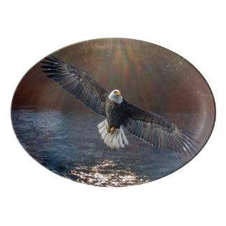 Servierplatten-Porzellan Eagle, Fluss Porzellan Servierplatte