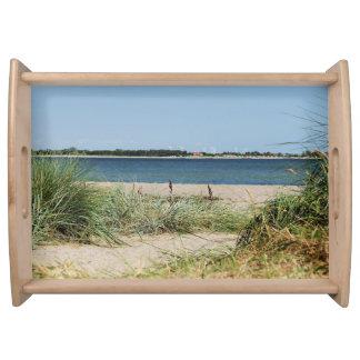 Serviertablett Strand mit Dünen