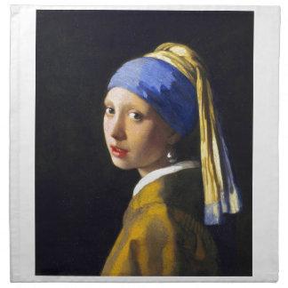 Serviette ~Girl w Perlen-Ohrring ~ Vermeer Servietten