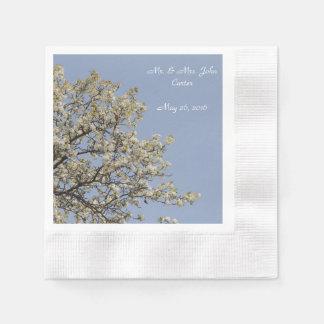 Servietten, personifizieren, weiße Blüten Papierservietten
