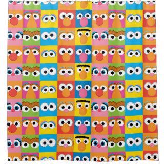 Sesame Street-Charakter-Augendiagramm Duschvorhang