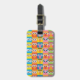 Sesame Street-Charakter-Augendiagramm Kofferanhänger
