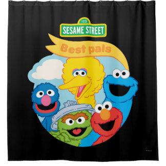Sesame Street-Charakter-Kunst Duschvorhang