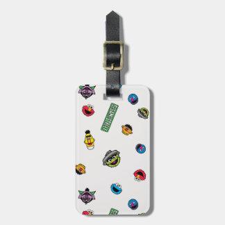 Sesame Street-Charakter-Muster Gepäckanhänger
