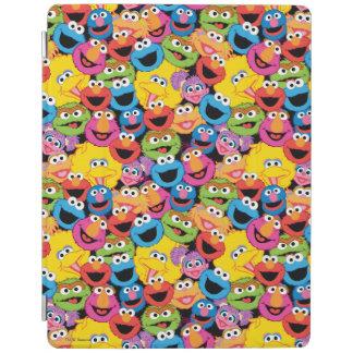 Sesame Street-Charakter stellt Muster gegenüber iPad Smart Cover