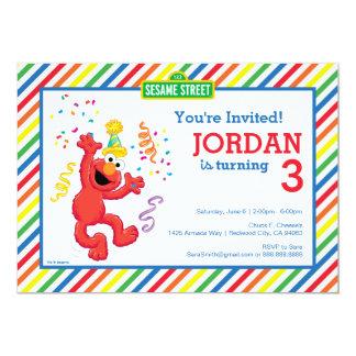 Sesame Street | Elmo - Regenbogen-Geburtstag 12,7 X 17,8 Cm Einladungskarte