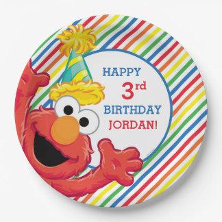 Sesame Street | Elmo - Regenbogen-Geburtstag Pappteller
