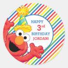 Sesame Street | Elmo - Regenbogen-Geburtstag Runder Aufkleber
