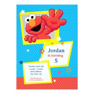 Sesame Street | Elmo - Tupfen-u. Stern-Geburtstag 11,4 X 15,9 Cm Einladungskarte
