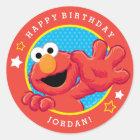 Sesame Street | Elmo - Tupfen-u. Stern-Geburtstag Runder Aufkleber