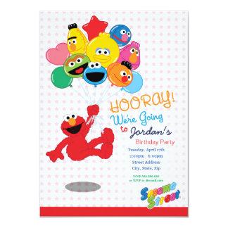 Sesame Street | Elmo und Kumpel - 11,4 X 15,9 Cm Einladungskarte