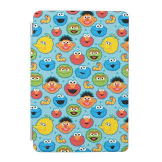 Sesame Street-Gesichts-Muster auf Blau iPad Mini Cover