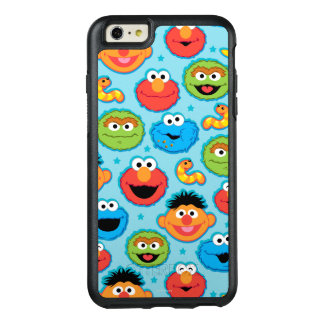 Sesame Street-Gesichts-Muster auf Blau OtterBox iPhone 6/6s Plus Hülle
