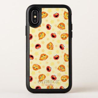 Sesame Street | Julia u. Elmo gelbe OtterBox Symmetry iPhone X Hülle