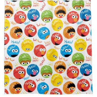 Sesame Street-Kreis-Charakter-Muster Duschvorhang