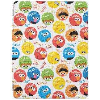 Sesame Street-Kreis-Charakter-Muster iPad Hülle