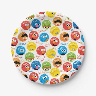 Sesame Street-Kreis-Charakter-Muster Pappteller