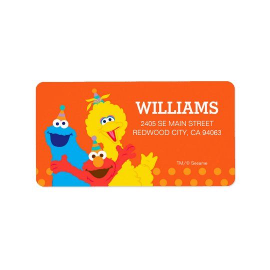 Sesame Street-Kumpel Adressetiketten