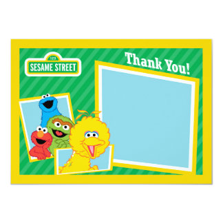 Sesame Street-Kumpel danken Ihnen 11,4 X 15,9 Cm Einladungskarte