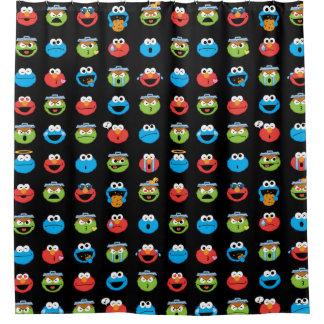 Sesame Street-Kumpel Emoji Muster Duschvorhang