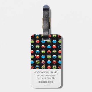 Sesame Street-Kumpel Emoji Muster Kofferanhänger