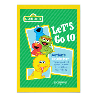 Sesame Street-Kumpel-Geburtstag 11,4 X 15,9 Cm Einladungskarte