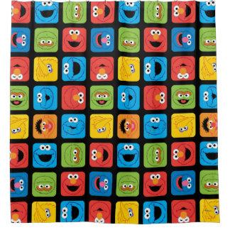 Sesame Street Rauminhalt berechnetes Duschvorhang