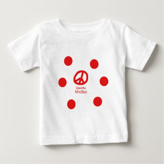 Sesotho Sprache und Friedenssymbol-Entwurf Baby T-shirt