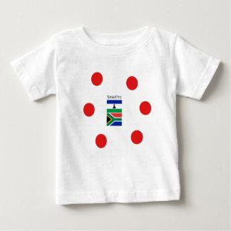 Sesotho Sprache und Lesotho-/Südafrika-Flaggen Baby T-shirt