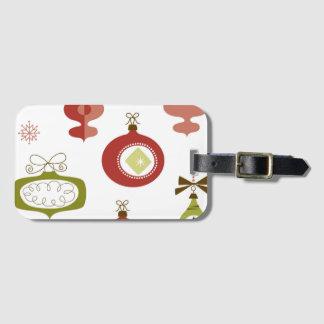 Set Retro Weihnachtsverzierungen Kofferanhänger
