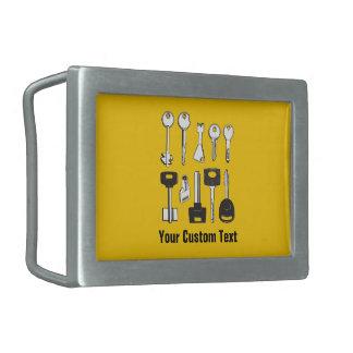 Set Schlüssel Rechteckige Gürtelschnalle