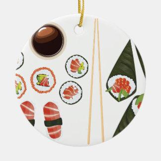 Set Sushi2 Keramik Ornament