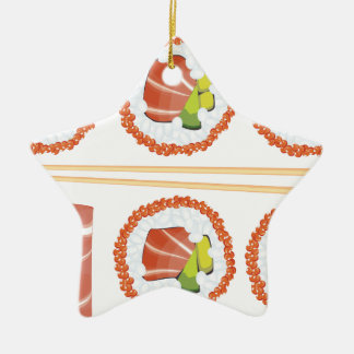 Set Sushi Keramik Ornament